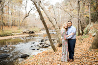 Fall engagement session at Eno River State Park in Raleigh Durham NC
